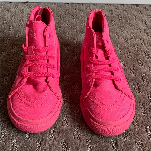 Vans Shoes | Hot Pink Vans Toddler 9